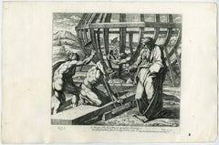 Arcam sibi fecit Noe ex mandato Domini … Gen. VI. - Plate 9: Noah [...].