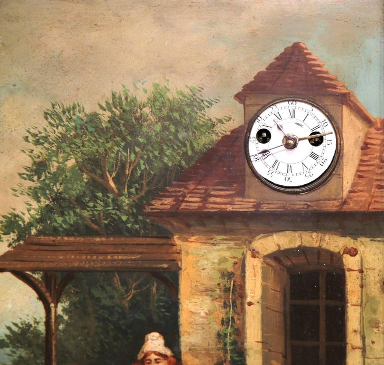 Unknown 19th Century French Quot Clock Painting Quot With Music