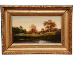 18th Century Oil on Canvas Painting Signed Wolff
