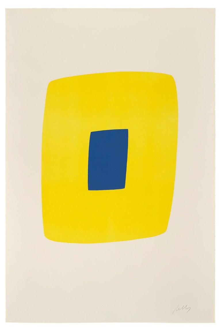 Ellsworth Kelly - Yellow with Dark Blue (Jaune Clair avec Bleu Foncé ...