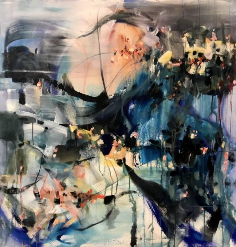 Vicky Barranguet Abstract Painting - Sunny Accents