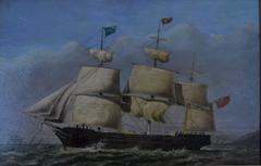 Sailing ship 'Arabian' off a headland