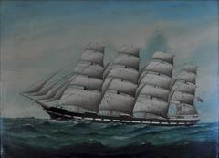 """Romsdal"" a four masted barque"