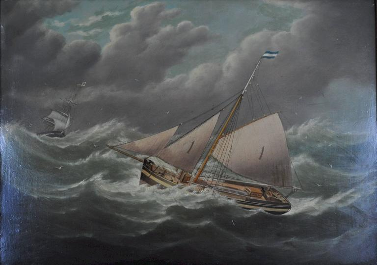 Joseph Witham Liverpool Number 1 Pilot Boat Painting At