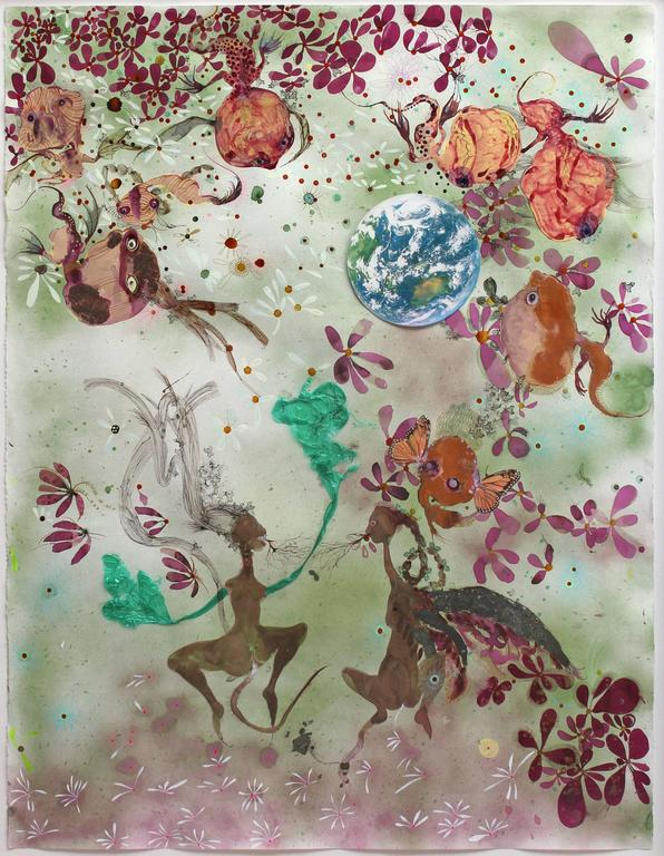 Rina Banerjee Mixed Media Art - In a delicate storm of some mystery they fluttered...