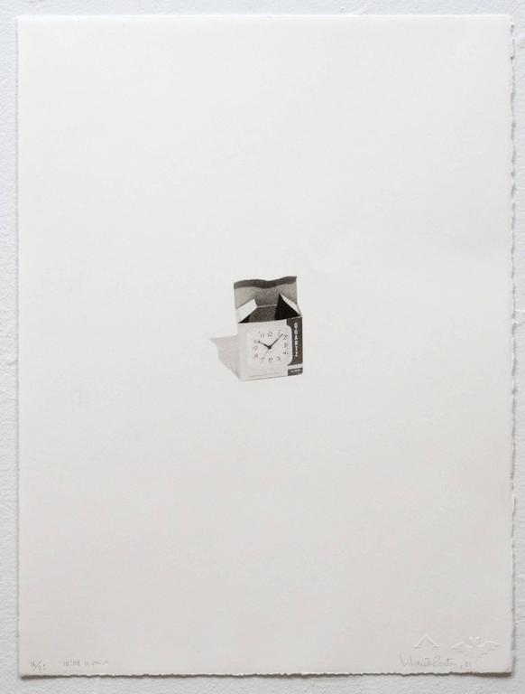 Liliana Porter Figurative Print - 10:08 a.m.