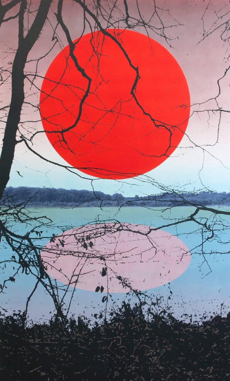 Birgit Jensen Landscape Painting - KAGAMI AKA