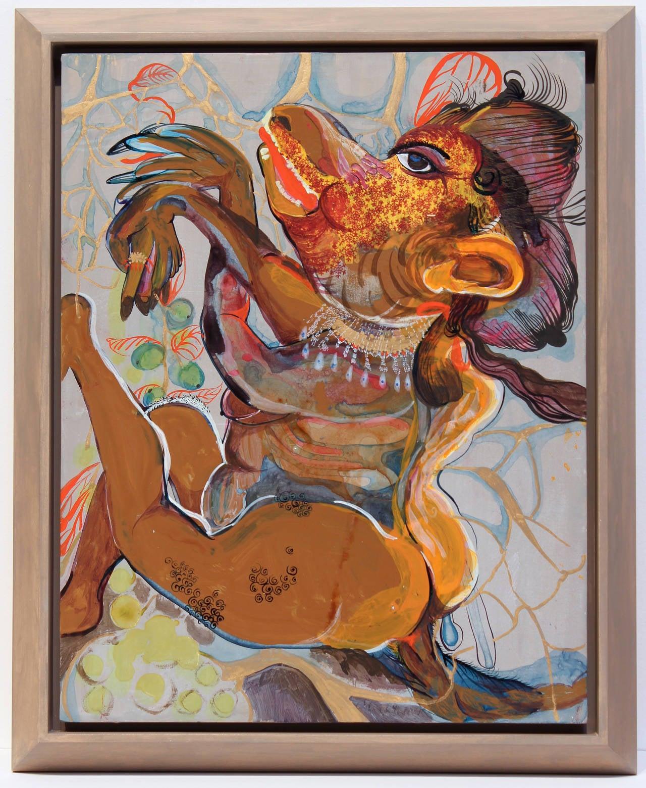 Rina Banerjee Figurative Painting - Beast of Dispossession