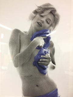 Marilyn Monroe with Blue Roses (from The Last Sitting, Vogue), 1962