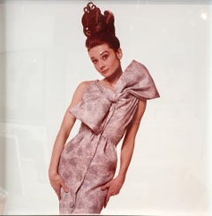 Audrey Hepburn, Playful 1963 vintage color photograph