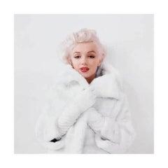 Marilyn Monroe, White Fur (1955)  estate black and white photo