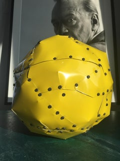 Yellow Copper Ball Sculpture