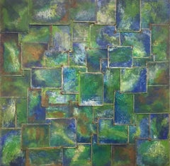 Silk Road Earth (STEEL WORK, BRIGHT EMERALD GREEN AND COBALT BLUE)