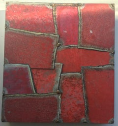 "Silk Route Cuts of India 15"" (SMALL STEEL WORK, BRIGHT RED)"