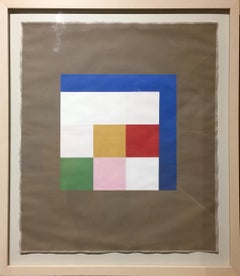 Khar (MULTICOLORED GOUACHE, SQUARED, GEOMETRIC ABSTRACTION)