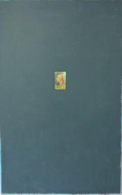 Balthus (PORTRAIT OF BALTHUS, GREY BLUE BACKGROUND)