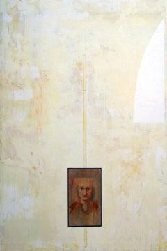 Portrait of John Ashbery (PORTRAIT OF AMERICAN POET, ENCAUSTIC PAINTING)