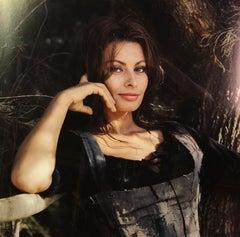 Sophia Loren, 1966 (TAKEN ON FILM SET IN ITALY, VINTAGE HOLLYWOOD PHOTOGRAPHY)