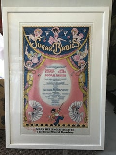 sugar babies broadway vintage sparkle signed poster