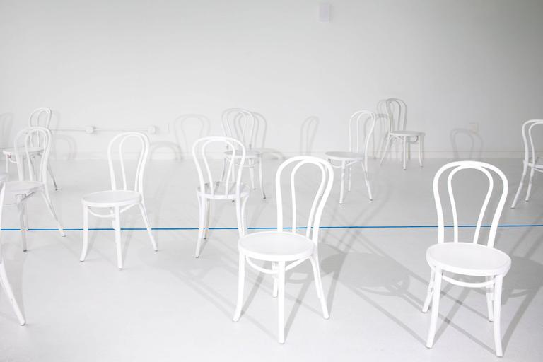 Delpozo (white chairs with blue line)