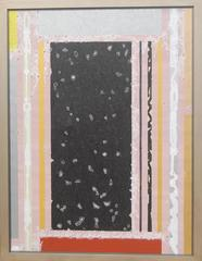 "Abstract, Black Silver Pink Grey, Textured with Gold by Indian Artist ""In Stock"""