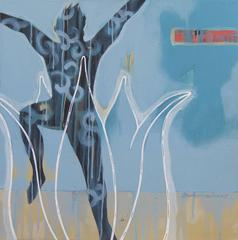 Freedom, Independent, Figurative, Acrylic in Blue, Black by Contemporary Artist