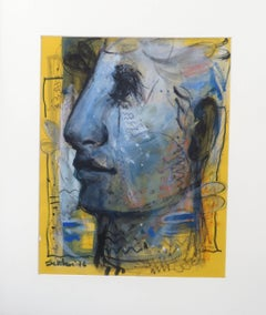 """Faces, Moods, Expression, Mixed Media work by Contemporary Artist """"In Stock"""""""