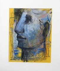 Faces, Moods, Expression, Mixed media work by Contemporary Artist Sekhar Kar