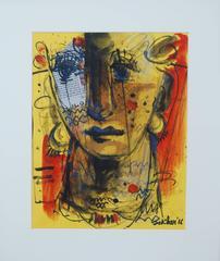 Expression, Moods, Depicting Calmness, Mixed Media by Indian Artist Sekhar Kar