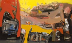 "Abstract, Antahkaran, Hindu philosophy, Acrylic, Red, Yellow, Brown ""In Stock"""