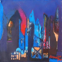 "Structure, Acrylic on Canvas by Contemporary Artist ""In Stock"""