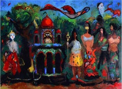 """Shiva's Consort, Acrylic on canvas by Contemporary Artist """"In Stock"""""""