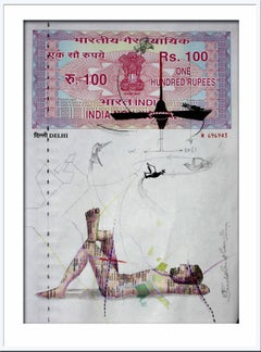 "Agreement with Mother-II: Mastery, Mixed Media on INR 100 Court Paper ""In Stock"""