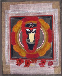 "Kali, Hand Made Pigments on Canvas by Modern Artist ""In Stock"""