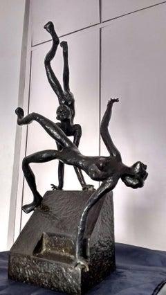 Freehold,Musui-Maiya,Bronze with black patina,Modern 20th Century Artist KSRadha