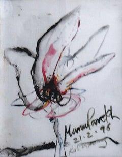 Flower, MixedMedia, strongly influenced by RamKinkarBaij and Rabindranath Tagore