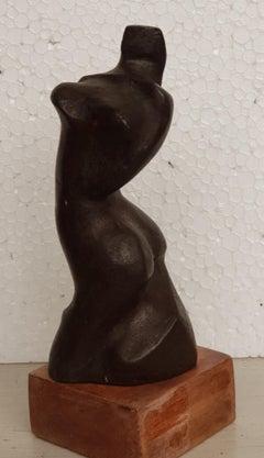 Figurative, bronze sculpture by Modern Indian sculptor Niranjan Pradhan