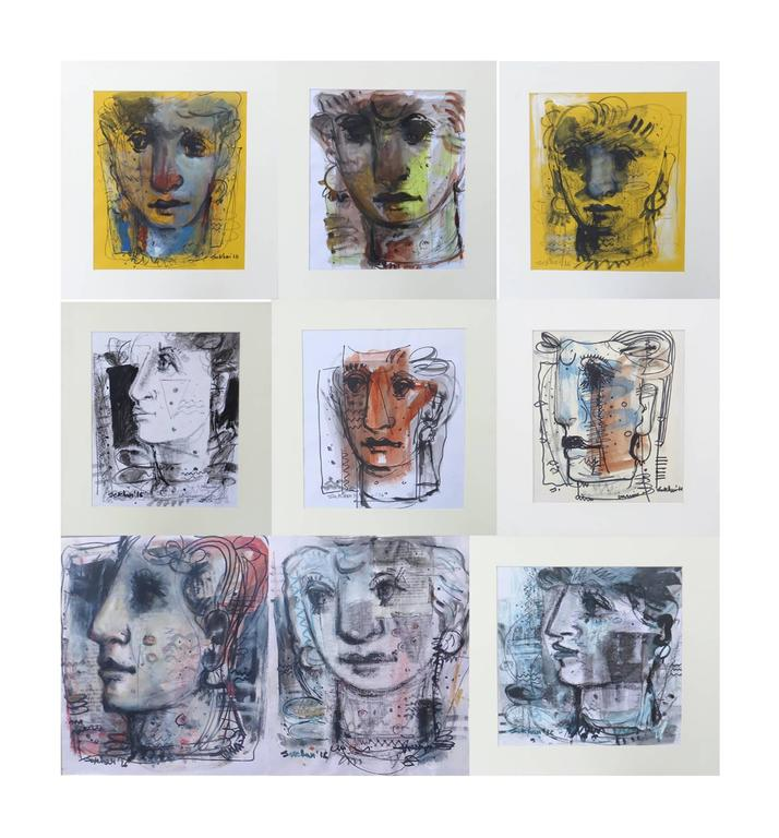 Untitled ( Set of 9 works )  For Sale 5