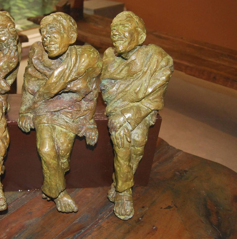 Education: • 1985 – 1989 Diploma in Fine Arts from Indian College of Arts and Draftsmanship, Calcutta(R.B.U.)  Debabrata De's bronzes, rustic and earthly in its essence; his women Lakshmi Chachi, smoking a hookah and Bidhur Sundori, looking at