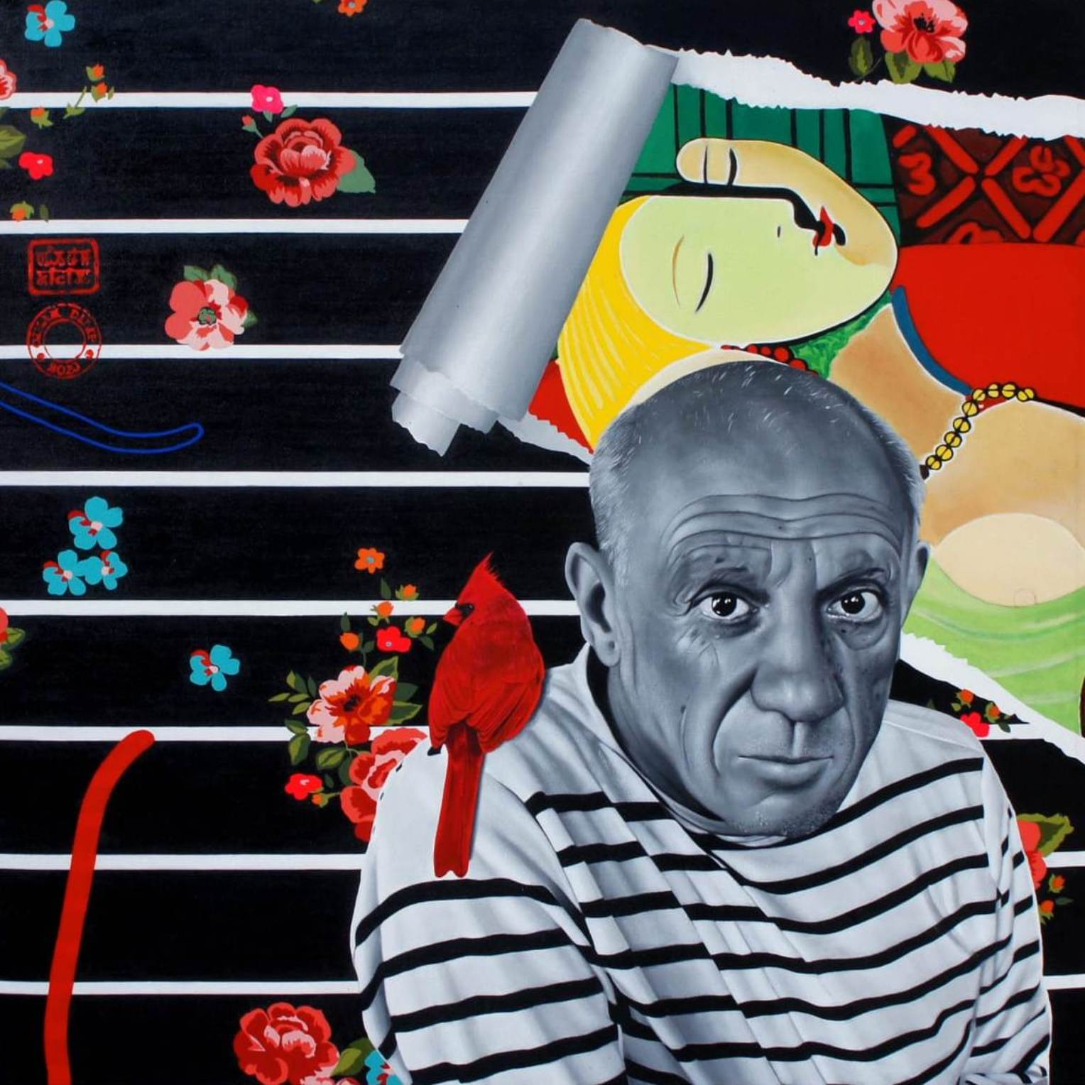 """Pablo Picasso, Acrylic on Canvas by Contemporary Artist """"In Stock"""""""