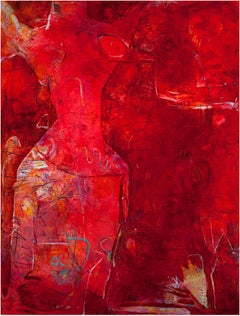 """And She Was Red,"" a Contemporary Abstract Oil Painting signed by Alayna Rose"