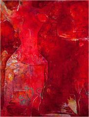 And She Was Red (contemporary abstract expressionist painting)