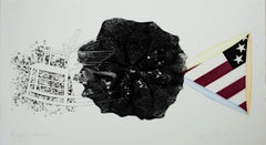 """""""Black Triangle in Color,"""" Etching and Aquatint signed by James Rosenquist"""
