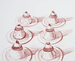 """Italian Desserts,"" Etching signed by Wayne Thiebaud"