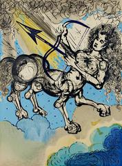 Sagittarius from Signs of the Zodiac Series (original color lithograph)