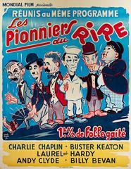 Pioneers of Laughter (original color lithograph vintage poster)