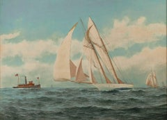 """""""Sailboat,"""" a Maritime Watercolor signed by C.S. Jones"""