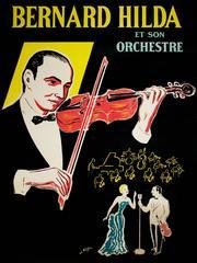 Bernard Hilda Et Son Orchestre (original color lithograph vintage poster)