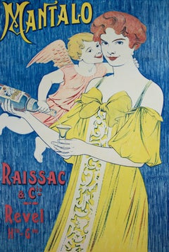 """Mantalo,"" an Original Lithograph Poster signed by W. Lachou"