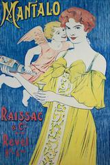 Mantalo (original color lithograph vintage poster)